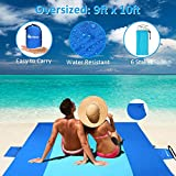 Merisny Beach Blanket Picnic Mat 9' x 10' Sand Free Beach Blanket for 7+ Adults - Large Beach Blanket Mat Sand Proof Outdoor Mat for Travel,Hiking,Camping and Music Festivals
