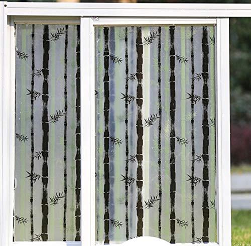 N / A Selbstklebende Milchglasfolie transparente opake Glasfolie explosionsgeschützte Folie Toilette Schiebetür Balkon Fensterfolie Wohnaccessoire Folie A26 30x100cm