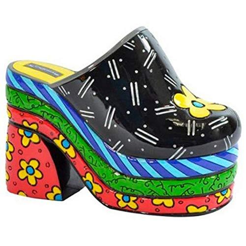 Escultura Shoes Clog - Romero Britto - em Resina - 15x10 cm