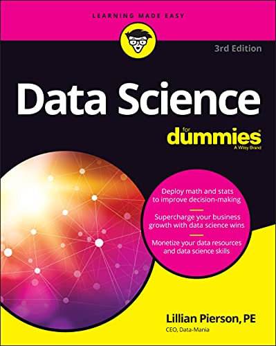 Data Science For Dummies, 3rd Edition Front Cover