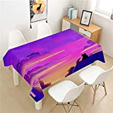 XXDD Mantel Luminoso Poliéster Hotel Mesa de Picnic Mantel Rectangular Hogar Restaurante Mesa de Centro Decoración Hogar A9 140x180cm