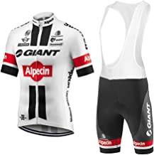 Mens Cycling Jersey and Bib Shorts Set Breathable Pro Team Cycling Clothing