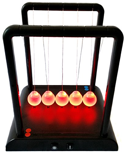 Pendule de Newton avec boules lumineuses