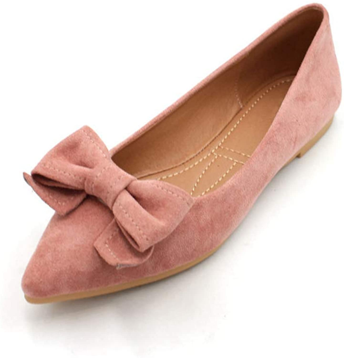 Kyle Walsh Pa Women Elegant Flats shoes Pointed Toe Bow-Knot Ladies Soft Office Driving Footwear