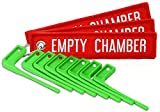 MB Gear Empty Chamber Safety Flag Kit 8 Neon Green Flags 3 Bright Red Tags Gun Rifles Firearms Universal Fit