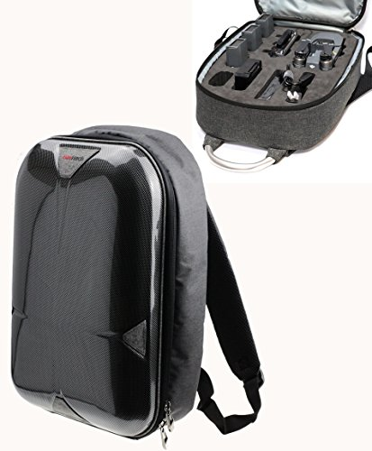 Navitech passte grauen Rucksack / Rucksack / Reisetasche / Reisekoffer DJI Mavic Pro Drone