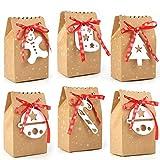 HOWAF 24 Piezas Cajas Bolsas de Regalo de Papel para Calendario de Adviento Boda Navidad F...