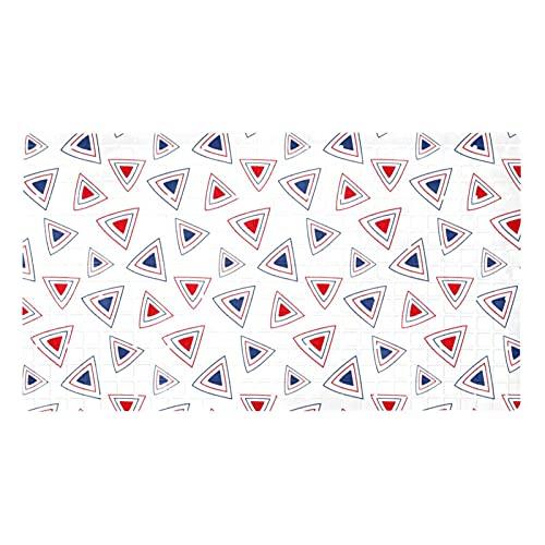 Tapetes de ducha triángulo con patrón geométrico (70,9 x 39,9 cm), antideslizantes, ventosas de agarre fuerte