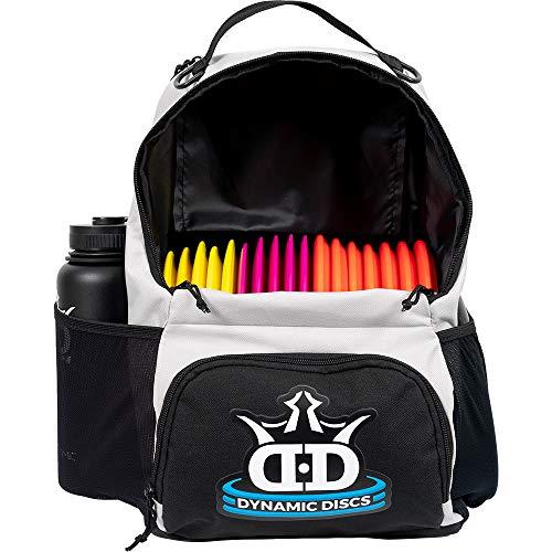 Dynamic Discs Cadet Disc Golf-Rucksack, Frisbee-Disc mit 17 Disc-Kapazität, Einführungs-Disc Golf-Rucksack, leicht und langlebig, grau