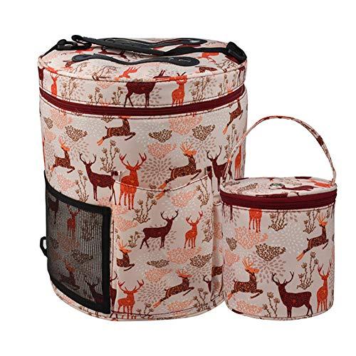 Hileyu 2 Stücke Tasche für Garn, Stricktasche Aufbewahrungstasche für Wolle und stricknadeln, Taschen Häkeln Zur Aufbewahrung von Wolle und Strickzubehör, Wolle Aufbewahrung für zu Hause, Reisen