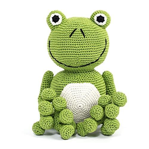 Frog. Jouet au crochet