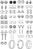 36 paia assortiti orecchini multipli orecchini gioielli con carta per le donne ragazze semplice set di orecchini a cerchio (Stile 2)