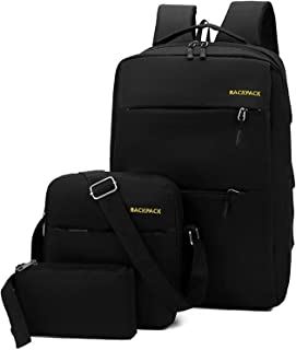 Decdeal Outdoor Camping Backpack Wear-Resistant Oxford Shoulder Bag with Sling Bag Handbag for Outdoor Activities