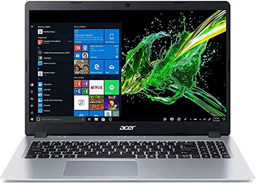 "Acer Aspire 5 15.6"" FHD Laptop Computer_ AMD Ryzen 3 3200U Up to 3.5GHz (Beats i5-7200U)_ 8GB DDR4 RAM_ 256GB PCIe SSD_ 802.11ac WiFi_ HDMI_ Backlit Keyboard_ Silver_ Windows 10_ BROAGE Mouse Pad"