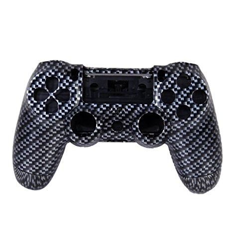 B Baosity 2pcs Set Etui Housse Coque Bouton pour Sony PlayStation4 PS4 Manette Sans Fil Noir