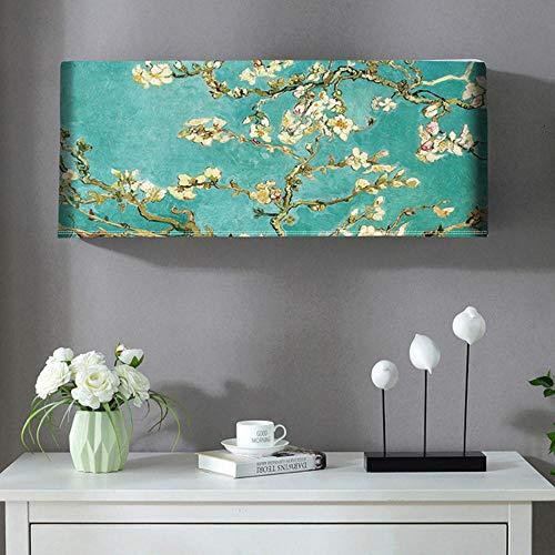 Qingsb Airconditioner Stofkap Polyester Stof voor thuis Binnen Wandmontage AC-decoratiebeschermer Voorkom direct blazen, Type A, 80x20x35cm