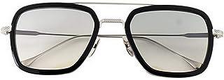 Retro Aviator Sunglasses Square Metal Frame for Men Women Sunglasses Downey Iron Man Tony Stark
