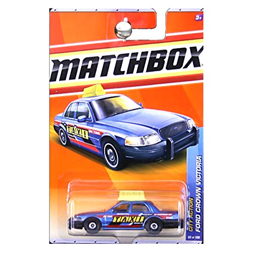 Matchbox City Action Ford Crown Victoria Taxi in Blue #68
