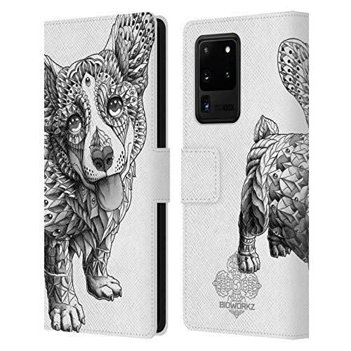 Head Case Designs Officially Licensed Bioworkz Corgi Canine Leather Book Wallet Case Cover Compatible with Samsung Galaxy S20 Ultra 5G