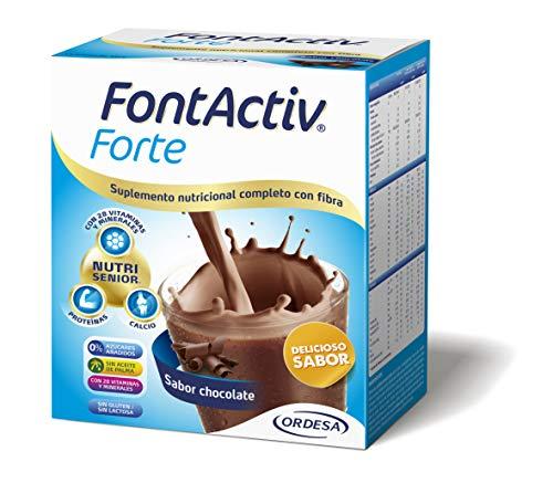 Fontactiv Forte Chocolate - 14 Sobres de 30gr - Suplemento Nutricional para adultos y mayores - 1 o 2 sobres al día