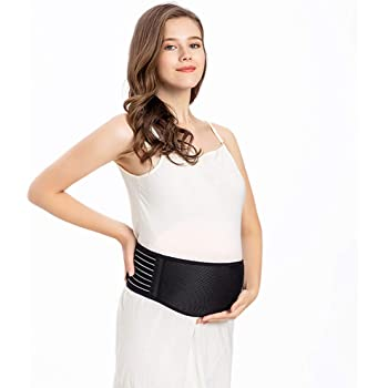 Sui Song Maternity Belt, Pregnancy Support Belt, Back Support Protection, 3D embrace Design, Increase The Area of Abdominal Support, Relieve The Pressure of The Waist,Beige, Black. (black, L)
