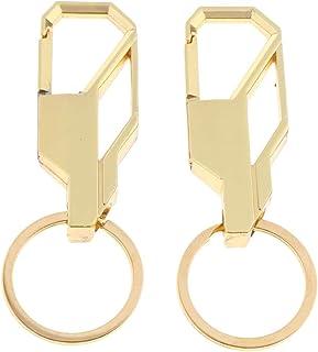 IPOTCH 2Pcs Men's Fashion Creative Metal Car Keyring Keychain Key Chain Ring Keyfob