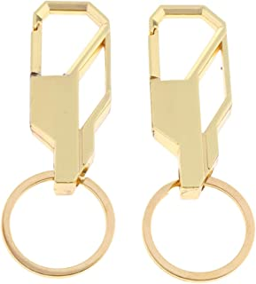 Prettyia 2Pack Keychains Zinc Alloy Keyring With Heavy Duty Holder For Car/Key Finder