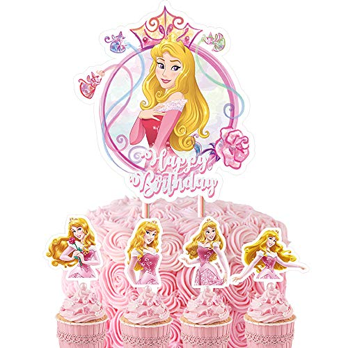 21 Sleeping Beauty Cake Topper Cupcake Toppers Set Decorations Birthday Party Supplies