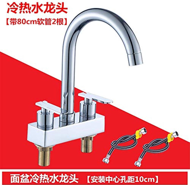 Yuanshuai3493-Faucet Kupfer-Krper-heies und kaltes Wasser-Küchen-Hahn Waschbecken-Mischbatterie