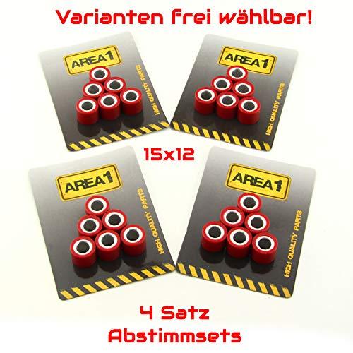 Variogewichte Variorollen 15x12 4er Abstimmset Variomatik Gewichte (4,5/5,0/5,5/6,0 Gramm)