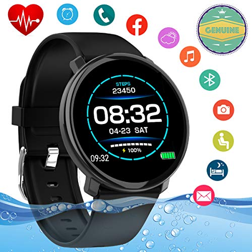 Smart Watch,Fitness Activity Tracker IP67 Waterproof Smartwatch with Heart Rate Blood Pressure Monitor Sports Watch Fitness Tracker Watch with Pedometer Smart Bracelet for Android iOS Phones Men Women