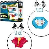 Magic Tracks U Turn | Rennbahn Kinder 3 Jahre | Auto Zubehör für Autorennbahn | Leuchtendes Autorennbahn Spielzeug | Magic Tracks Schienen Set