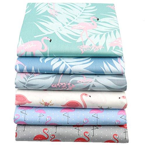 "Flamingo Fat Quarters Fabric Bundles,Print Flamingo Cotton Quilting Fabric,18"" x 22""(Multicolor)"