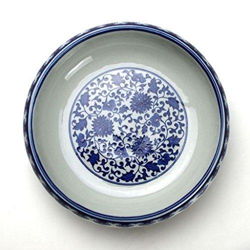 Cenicero Cáscara de cerámica Azul y Blanco del Lavado de