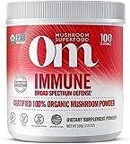 Om Organic Mushroom Superfood Powder, Immune, 7.05 Ounce (100 Servings), Reishi & Turkey Tail, Immune Support Supplement