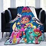 Bestrgi Ultra-Soft Micro Fleece Fashion Printed A-b-b-y and Bedding Ha-t-ch-er Cute Throw Blanket Fuzzy Lightweight Plush Warm for Bed Couch Living Room Bedroom for Adult and Kids Girls 50'x40'