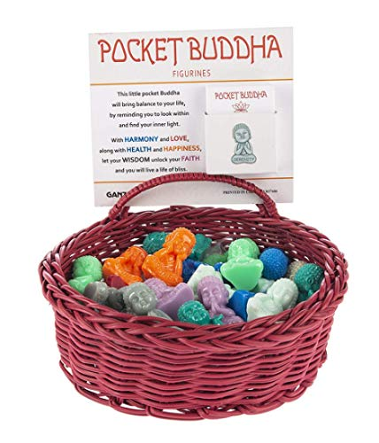 Ganz Pocket Tiny Buddha Token Charm with Story Card (Color May Vary) ~ Will Receive 1 Pocket Buddha & Card