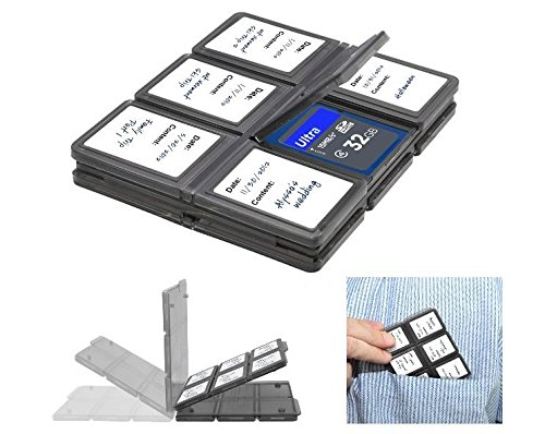 Xit Foldable Memory Card Protector Case (12 Slots) Holds SD/ SDHC/ Micro SD Card for DSLR Cameras/Camcorders