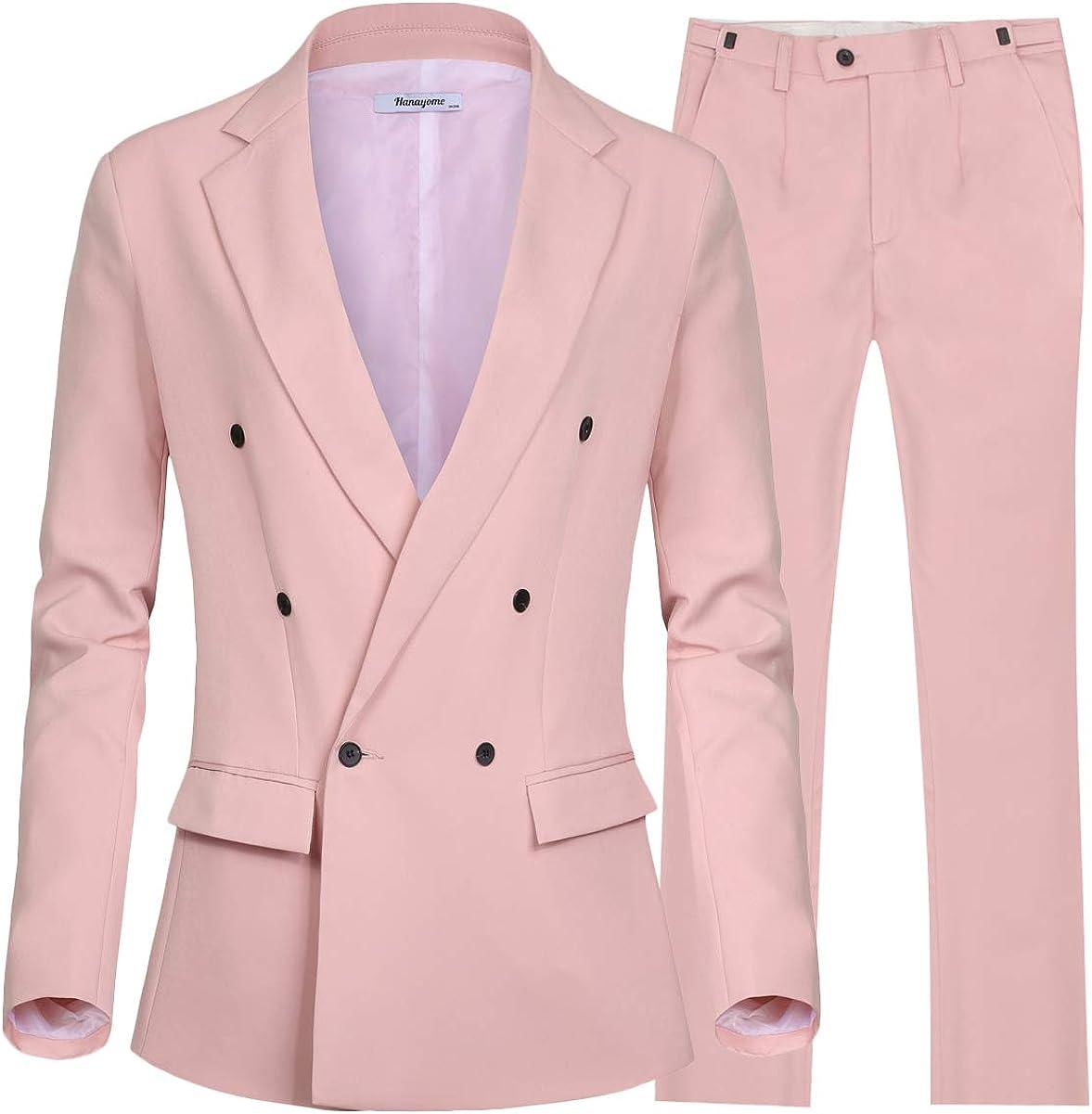 CMDC Women's 2 PC Business Casual Shawl Collar Formal Blazer Suit Pants Sets MI35