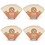 EDESIA ESPRESS - 400 filtri caffè americano in carta non sbiancata - forma a cono - misura 4