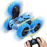 Diealles Shine Coche Teledirigido Acrobacias, 4WD RC Coche Acrobacia 2.4 GHz Coche de Control Remoto Rotación de 360° con Batería Recargable, Regalo para Niños, Azul