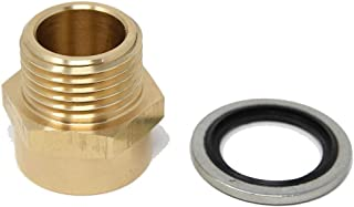 G Thread (BSP) to NPT (US Thread) Pipe Fitting Adapter with G Thread Bonded Washer Seal Included 3/4
