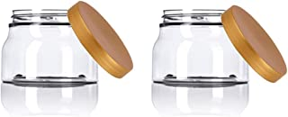 Grand Parfums 8 Oz PET Jar Tuscany Style with Sloped Sides and Colored Caps - 70mm - 240mL Volume (12 Sets, Copper Lids)