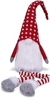 "VIAME Handmade Christmas Gnome Decoration Swedish Santa Tomte Swedish Face Figurines Christmas Ornament - ""16 Inches"