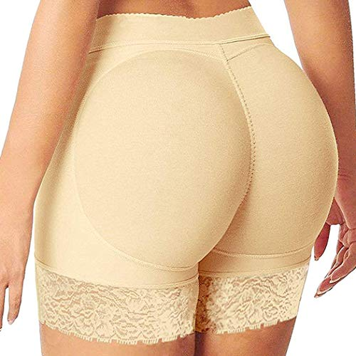 FUT Womens Seamless Butt Lifter Body Shaper Padded Lace Control