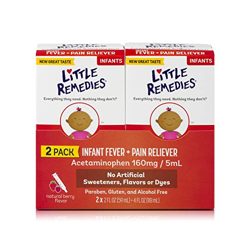 Little Remedies Infant Fever & Pain Reliever, Natural Berry Flavor, 2 fl oz, 2 Pack