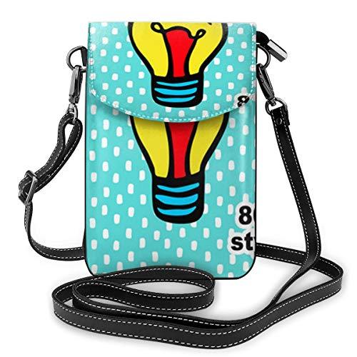 Kleine Handtasche im 80er-Jahre-Stil, Handtasche mit verstellbarem Riemen für den Alltag