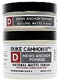 Duke Cannon News Anchor Pomade for Natural Matte Finish Bundle, 2oz + 4.6oz