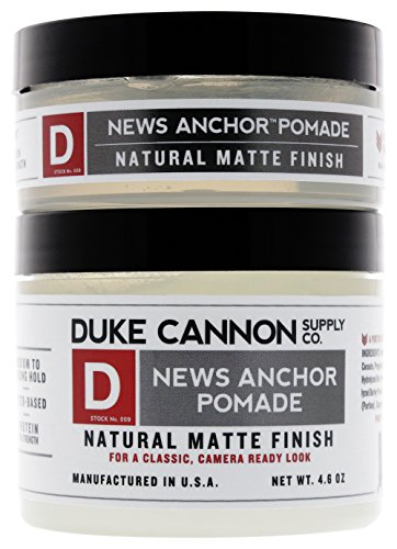 Duke Cannon News Anchor Pomade for Natural Matte Finish Bundle, 2oz and 4.6oz