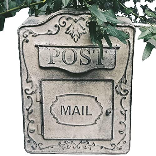 Haol Cassetta Postale per Montaggio A Parete Cassetta Postale Vintage in Stile Shabby all'Esterno Cassetta delle Lettere Resistente alle Intemperie con Cassette Postali con Scritte in Rilievo Vintage